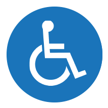 Web Accessibility - Wheelchair icon