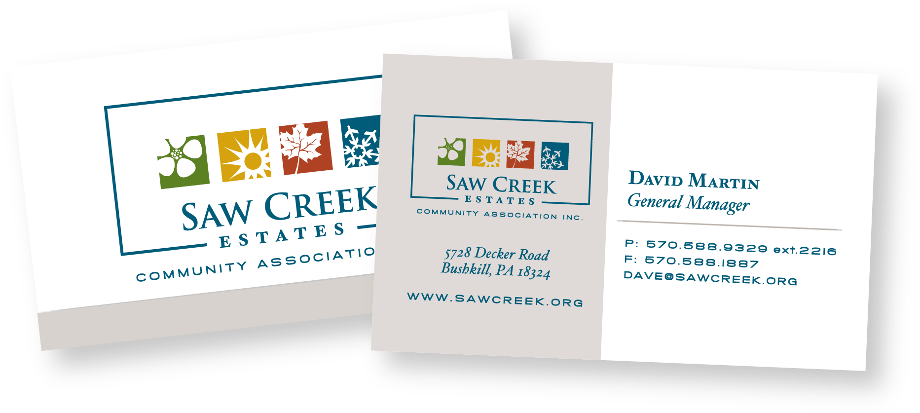 Saw Creek business cards