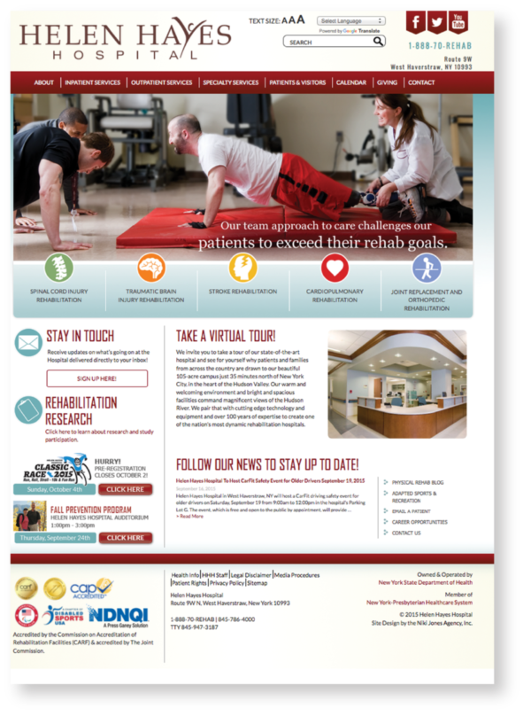 Helen Hayes Hospital website
