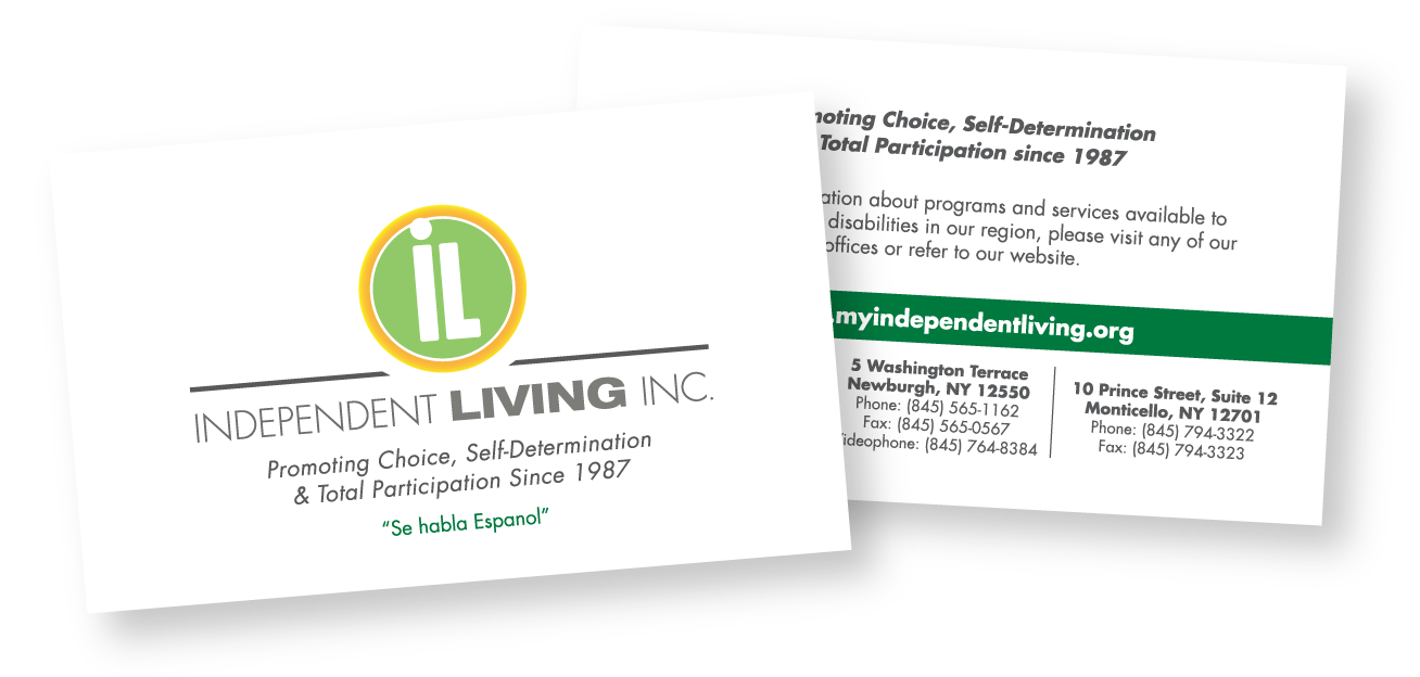 independent living business card