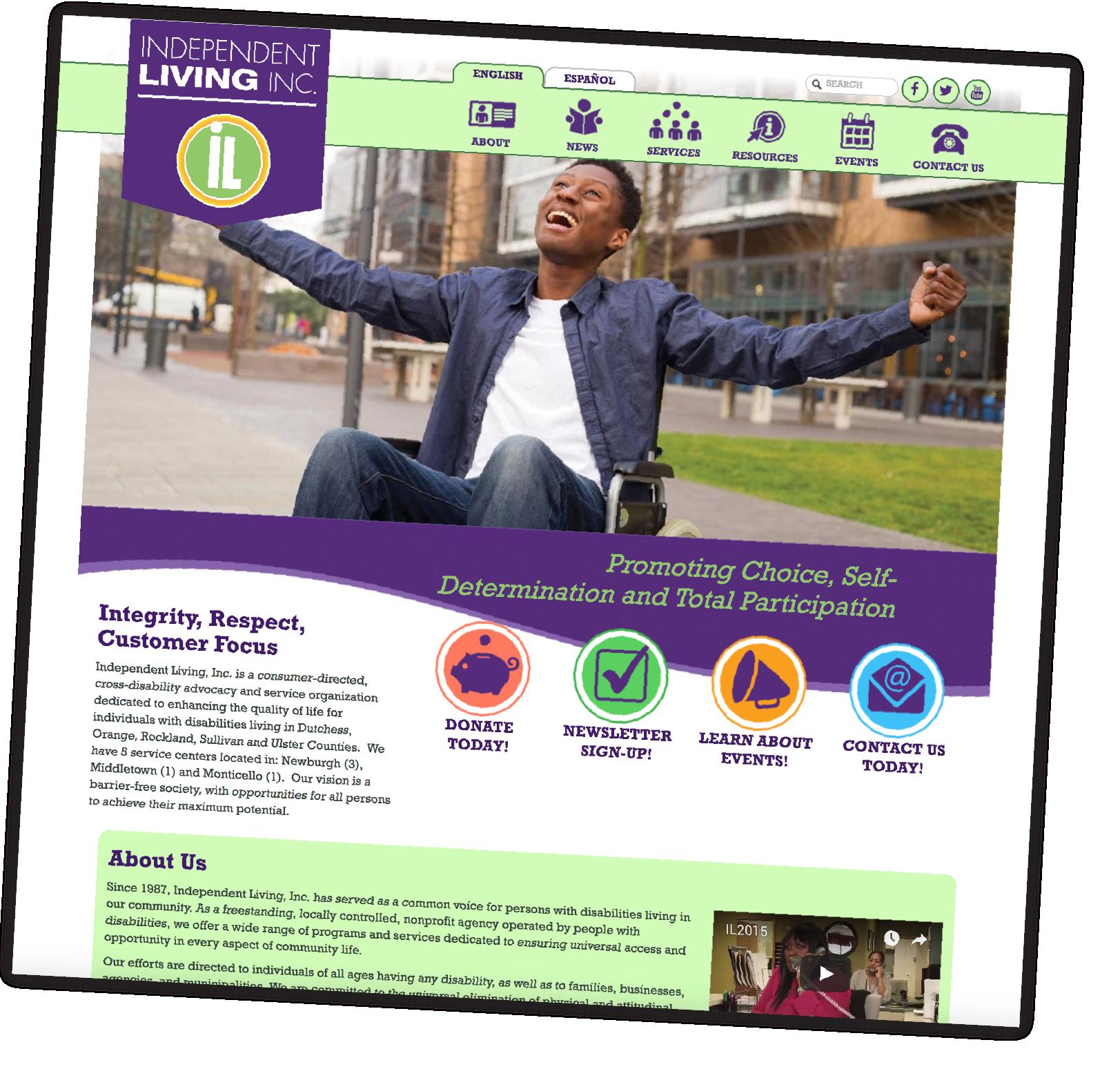 Independent living website