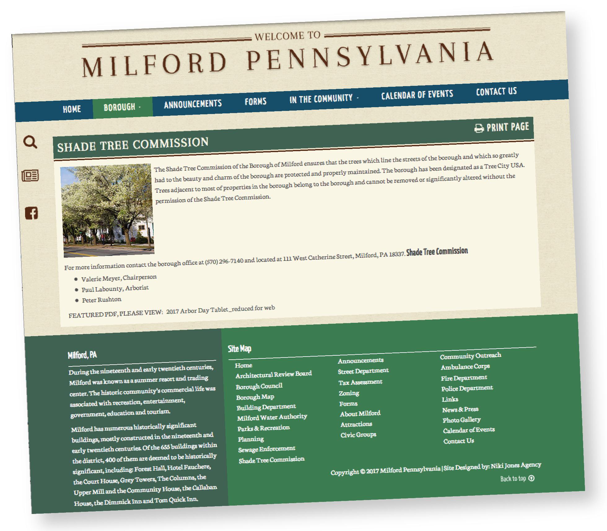 milford township web page