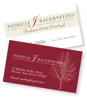 Bauerfield business card